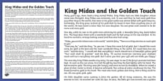 King Midas Story Print Out