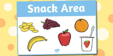 Snack Area Sign
