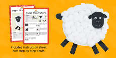 Paper Plate Sheep Craft Instructions