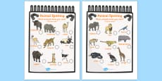 African Animal Spotting Sheet (Safari)