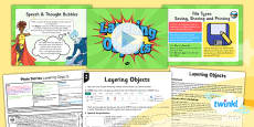 PlanIt - Computing Year 4 - Photo Stories Lesson 3: Layering Objects Lesson Pack
