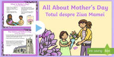 * NEW * EYFS All About Mother's Day PowerPoint English/Romanian
