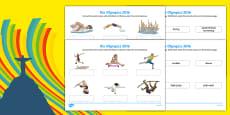 Rio Olympics 2016 Events Matching SEN Activity Sheet Pack