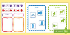 * NEW * Color Sorting Activity