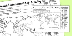 Commonwealth Locational Knowledge Map Activity