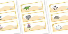Sunshine Themed Editable Drawer-Peg-Name Labels