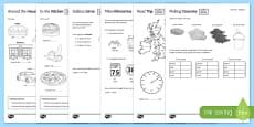 Measure at Home Measure Problems PowerPoint GCSE Grades 1-3 Activity Sheet