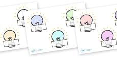 Editable Self Registration Labels (Light Bulbs)