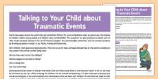 Talking to Your Child about Traumatic Events
