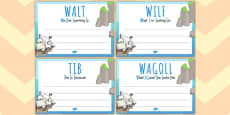 Pirate Themed 'WALT', 'WILF', 'TIB', 'WAGOLL' Posters