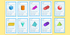 3D Shapes Card Game