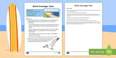 * NEW * Beach Scavenger Hunt Activity Sheet