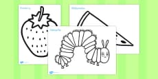 Australia - Colouring Sheets to Support Teaching on The Very Hungry Caterpillar