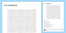 Raging Rivers Cryptic Word Search