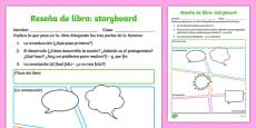 Reseña de libro - storyboard