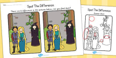 Rapunzel Storyboard Spot the Difference Activity