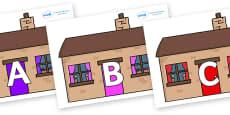 A-Z Alphabet on Houses