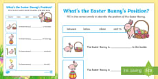 Foundation Easter Position Activity Sheet