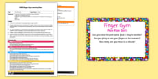 EYFS Pom Pom Sort Finger Gym Activity Plan and Prompt Card Pack