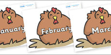 Months of the Year on Chickens