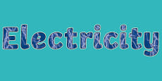Electricity Display Lettering
