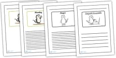 Black and White Lined Writing Frames to Support Teaching on Jasper's Beanstalk