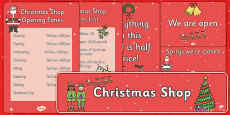 Christmas Shop Role Play Pack