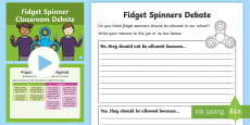 KS1 Fidget Spinners Classroom Debate Activity Pack