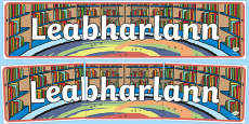 Leabharlann Library Display Banner