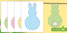 Easter Craft Fluffy Tail Bunny Display Bunting