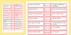 Sentence Matching Game Conjunctions Because, Although, While