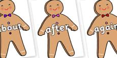 KS1 Keywords on Gingerbread Man