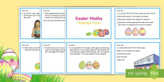 Year 5 Easter Maths Challenge Cards