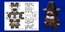 3D Guy Fawkes Paper Model Display