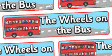 The Wheels on the Bus Display Banner