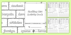 Statutory Spelling List Y5 and Y6 Activity Book