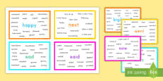 * NEW * Interesting Words Vocabulary Cards