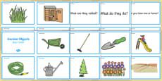 Garden Objects Quiz Cards