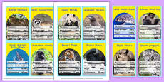 Endangered Animals Top Card Game