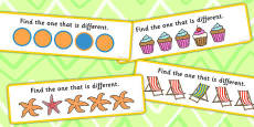 Find The One That Is Different Concept Cards Activity