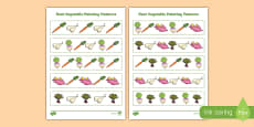 Root Vegetables Painting Pattern Activity Sheet