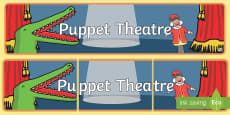 Puppet Theatre Display Banner