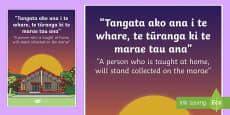 Whakatauki Tangata ako ana Display Poster Te Reo Maori/ English