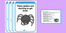 Foundation PE (Reception) Sleeping Spiders Cool-Down Activity Card
