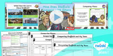 PlanIt - Geography Year 4 - What's It Like in Sheffield? Lesson 6: How Does Sheffield Compare With Where We Live? Lesson Pack