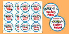 Spelling Police Badges
