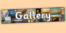 Gallery Themed Banner