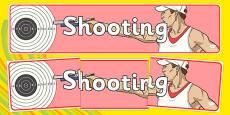 The Olympics Shooting Display Banner