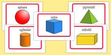 3D Shape Flashcards