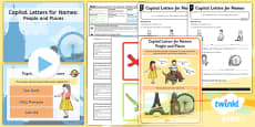 PlanIt Y1 SPaG Lesson Pack: Capital Letters for Names: People and Places